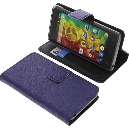 foto-kontor Tasche für MEDION Life E4503 Book Style blau Schutz Hülle Buch