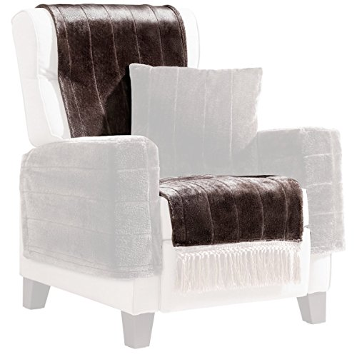 vivaDOMO Sesselschoner Eleganz Sesselhusse Sesselüberwurf Stuhlbezug Schonunterlage Polsterschutz Sesselzubehör Sesselauflage Lehnenüberwurf Sesselschoner Armlehnenschoner