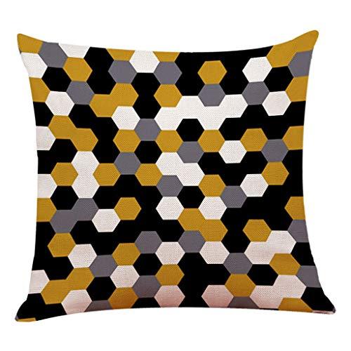 Loolik Geometrisch Gestreifter Kissenbezug Quadratischer Kissenbezug aus Baumwolle -