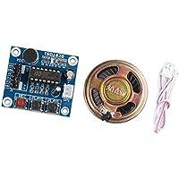 haljia sonido de audio ISD1820módulo de reproducción de grabación de voz con micrófono sonido Audio + altavoz altavoz