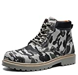 Bottes de moto pour hommes Chaussures à lacets Chaussures à lacets Chaussures à lacets Chaussures à lacets 39-44 ( Color : Gray , Size : 41 )