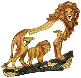 stealstreet ss-ug-mmd-188, 16,5cm Löwen in der Wild WOODLIKE Brustumfang Szene Carving Statue Figur, weiß, 7