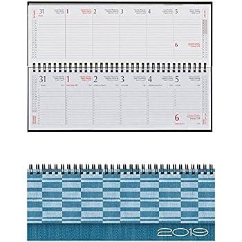 Agenda settimanale planning da tavolo 2019 298x107 mm - Agenda da tavolo settimanale ...