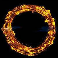 Illuminazione,WINWINTOM 2m 20 LED Stringa luminosa a LED in Rame, Impermeabile Pieghevole, Bianco Caldo (arancia) - Sensore Di Livello Laser