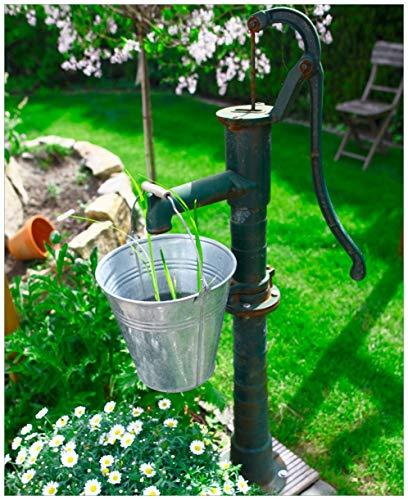 Wallario Magnet für Kühlschrank/Geschirrspüler, magnetisch haftende Folie - 65 x 80 cm, Motiv: Wasserquelle im Garten