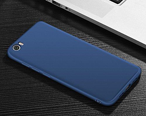 König-Shop TPU Silikon Case Stecker Staubschutz für Handy Huawei P10 Cover Bumper Schutz Hülle Blau