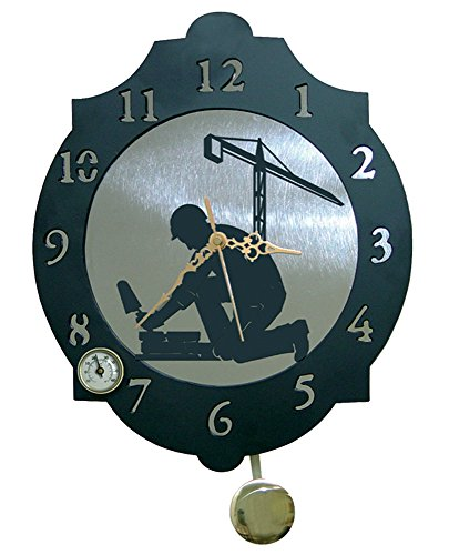 IMEX EL ZORRO El Zorro 11334-Reloj albañil, 374 x 312 mm, Metal, Gris, 40x34x7 cm