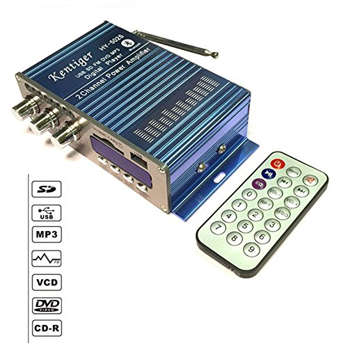 USB FM Power Verstärker Haushalt 12V 3A Mini Hi-Fi HiFi Stereo Audio AMP mit Fernbedienung unterstützt FM/MP3/SD/USB/DVD FM Audio ()
