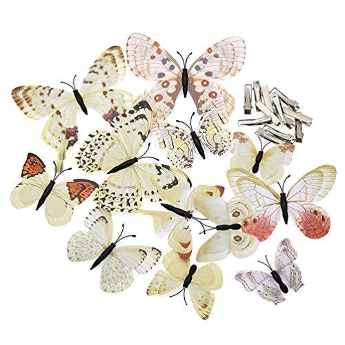Hongma 12 Stück Schmetterlings Haarclips Haarklammern Haarspangen Mädchen Damen DIY