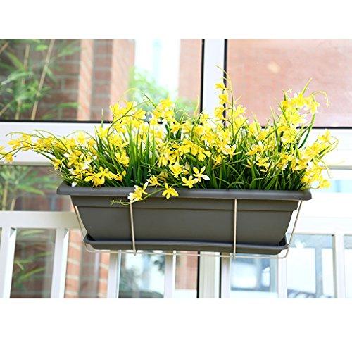 LOVELY Balcon Jardinière Support de fleurs Support de plante en plastique Balconnière