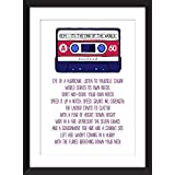 R.E.M. It's the End of the World As We Know It Lyrics Unframed Print / Ungerahmter Druck