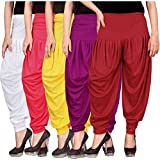#3: Dhoti pants for womens -Culture the Dignity Women's Lycra Dhoti Patiala Salwar Harem Pants CTD_00WPYP1R_1-WHITE-PINK-YELLOW-PURPLE-RED-FREESIZE -Combo Pack of 5