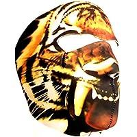 MASCHERA PROTEZIONE IN NEOPRENE, MOTIVO: TIGRE, DESIGN: CAMOUFLAGE TIGER DMONIAC 67142, PER SOFTAIR, PAINTBALL