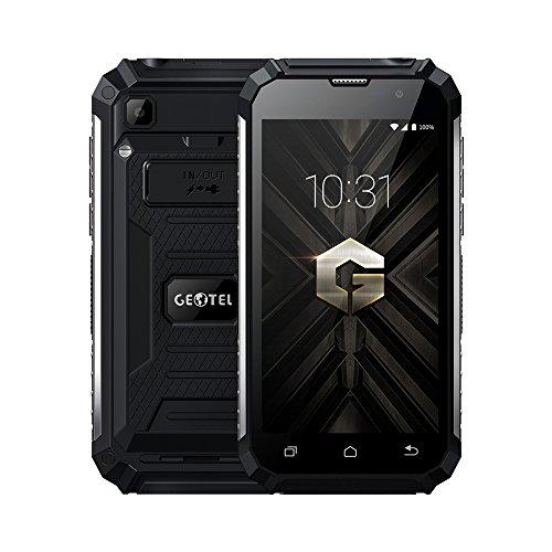 GEOTEL G1 - 3G WCDMA Smartphone 5.0 Zoll HD 7500mAh Akku, Android 7.0 Quad-Core 2GB RAM+16GB ROM, 8.0MP Kamera GPS FM Taschenlampe Reverse Charge, Dual SIM Ohne Vertrag Handy