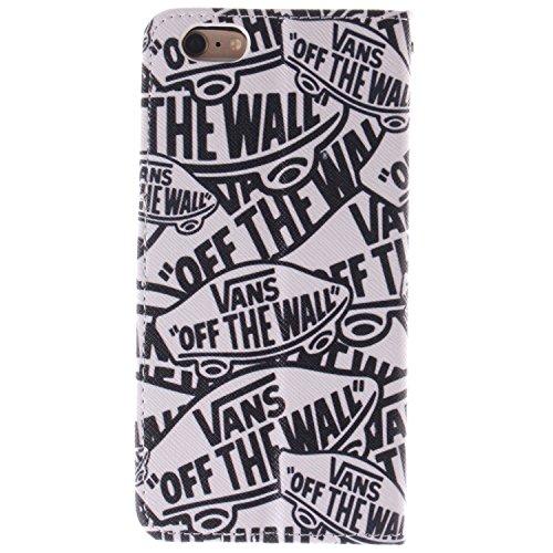 """MOONCASE iPhone 6 Case Coque en Cuir Étui de protection à rabat pratique et chic Case pour iPhone 6 (4.7"""") -TX09 ST01"""