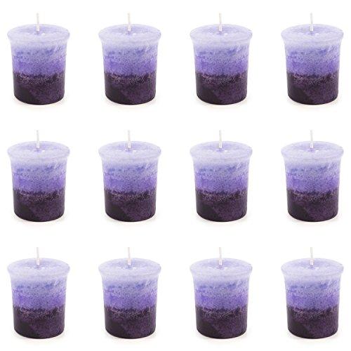 pajoma Votivkerze Lavendel, marmorierte Duftkerze, 12er Pack -