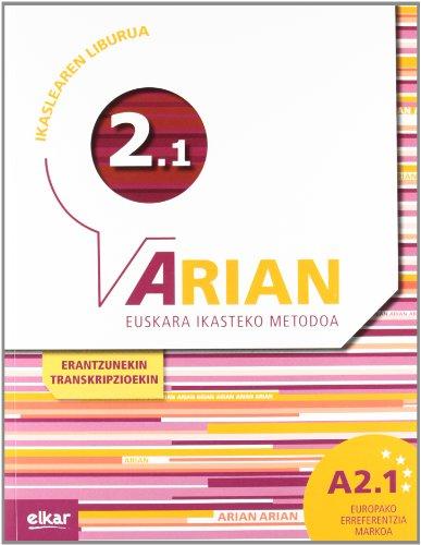 Arian A2.1 Ikaslearen liburua (+CD audioa) por Batzuen artean