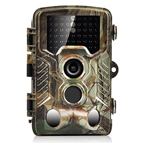 Digital Pir-cam (16MP Wildkamera, H&O 1080P HD Jagd & Trail Kamera 125° Grad Weitwinkel Wildlife Kamera, 46 IR LEDs Breite Vision Infrarote 20m Nachtsicht Wasserdichte 2,4