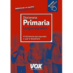 Diccionario De Primaria (Vox - Lengua Española - Diccionarios Escolares) - 9788499742106