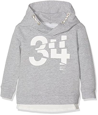 TOM TAILOR Kids Jungen Kapuzenpullover Hoody Sweat with Shirt, Grau (Medium Grey Melange 2482), 92