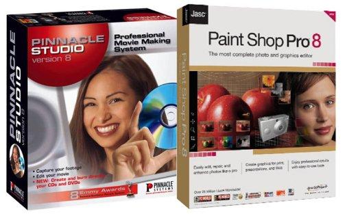 Pinnacle Studio 8.0 & Jasc Paint Shop Pro 8.0