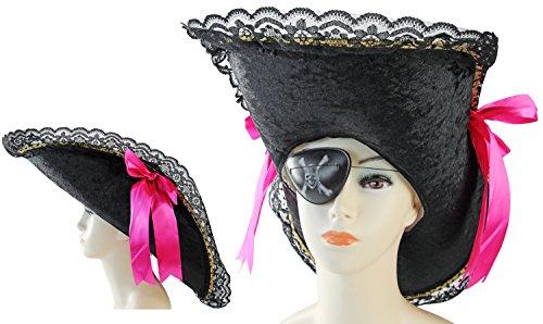 Seiler24 Lady Piratenhut mit Schleifen