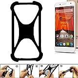 K-S-Trade Handyhülle für Swees Godon X589 Schutz Hülle Silikon Bumper Cover Case Silikoncase TPU Softcase Schutzhülle Smartphone Stoßschutz, schwarz (1x)