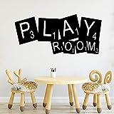 WSLIUXU Sala da gioco fai da te Adesivo da parete impermeabile Wall Art Deco per camera dei bambini Adesivo per la casa Adesivo da parete Famiglia Giardino Bianco L 43 cm X 93 cm