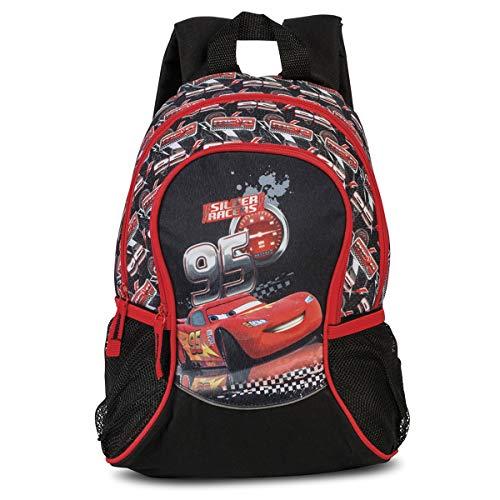 Fabrizio Disney Cars Kinderrucksack Kindergarten Rucksack Jungen Buben 80885-0201 schwarz (Für Disney-rucksäcke Jungen)