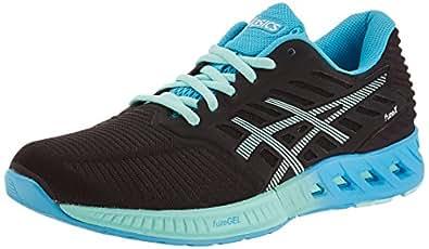 ASICS Women's Fuzex Black, Mint and Aquarium Running Shoes - 4 UK/India (37 EU)(6 US)