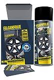 mibenco 61001103 Felgenfolie Set, 4 x 400 ml, Schwarz Ma