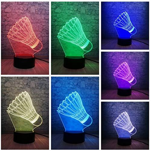 Kreative Badminton LED Nachtlicht 3D Lampe Sport Dekoration Lampe Teenager Sport Geschenke Birne Raumdekor Schlafzimmer Schlaf Licht - Für Teenager Sport-geschenke