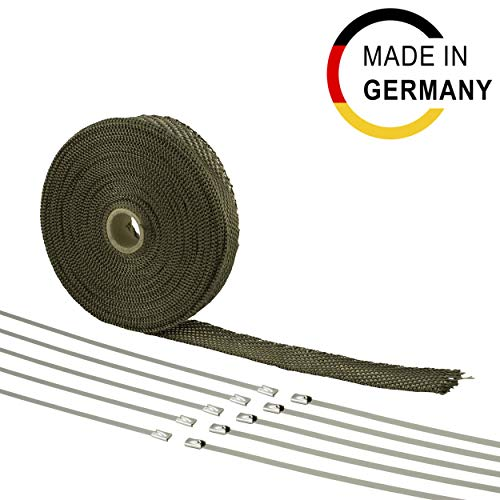 15m Basalt Hitzeschutz Band - 30mm breit - Hergestellt in Deutschland