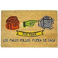 Koko Doormats Felpudo con Diseño Malos Rollos, PVC, Coco, 60 x 40 cm