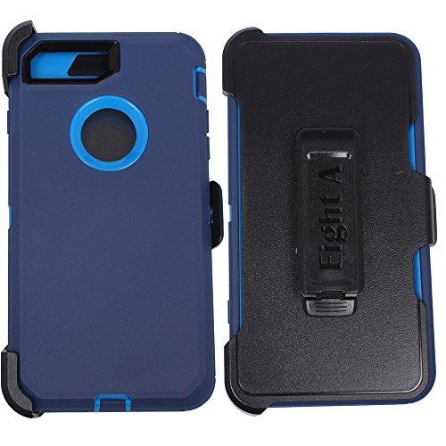 Apple iPhone 8Case, Heavy Duty Defender Impact Rugged mit Integrierter Displayschutzfolie Camouflage Schutzhülle Case Cover für iPhone 8, Marineblau (Defender Case)