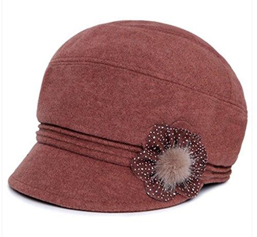 Automne et Hiver chez les personnes âgées Mme Woolen Cap Cap bassin Mom The Old Man Hat Femme hiver Old Lady Bérets Hat chaud ( couleur : D ) B