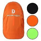 Fafada Nylon Rucksack Regenschutz Regenhülle Raincover für Backpack 25-38L Orange M