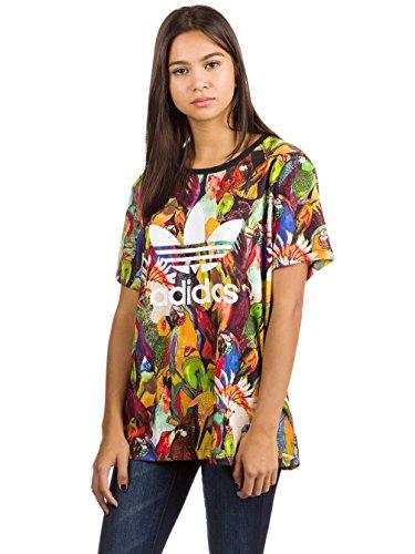 Brasilianische Frauen T-shirt (adidas Passaredo Boyfriend T-Shirt Damen 34 - XS/S)