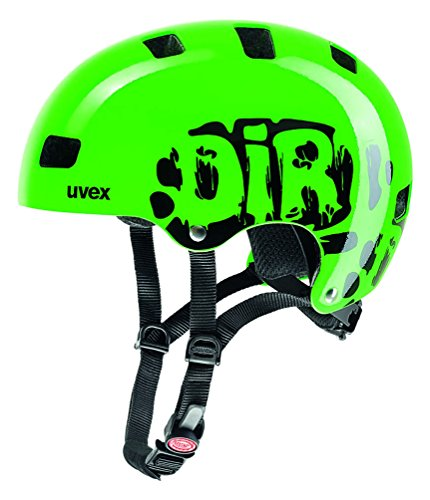 uvex Kinder Kid 3 Fahrradhelm, Grün (Dirtbike Green), 55-58 cm