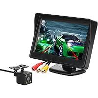 Kit de cámara y Monitor de Respaldo para el automóvil, Monitor LCD DE 4.3 Pulgadas