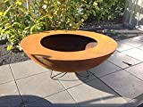 Garteninspiration Moderne Feuerschale 100 cm Durchmesser