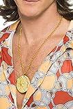 Smiffys Medallón de metal dorado en cadena