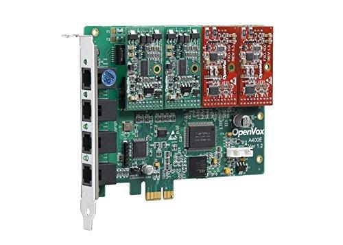 autobahn88 OpenVox A400E04-FXO 4-Port Analog PCI-E Karte + 4 X FXO, Ethernet (RJ45) (4-port Fxo Analog)