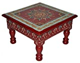 #10: Designer Home Décor Wooden Low Table Stool Painted