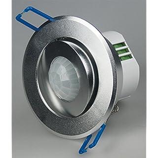 Decken-Einbau-Bewegungsmelder 360°, Alu LED geeignet, 6m, schwenkbar, silber