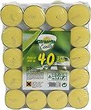 Provence Outillage Bougie Citronnelle avec Coupelle Aluminium Jaune 40 Pièces 08261