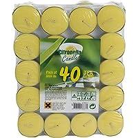Provence Outillage–Vela Citronela Coupelle aluminio amarillo con 40piezas 08261