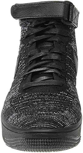 Nike Sportswear Damen Mid Cut Sneakers Air Force 1 Flyknit Schwarz