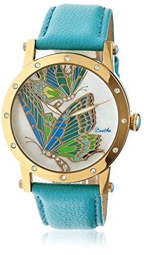 montre-bertha-quartz-affichage-analogique-bracelet-acier-inoxydable-turquoise-et-cadran-multicolore-