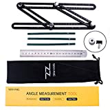 Angleizer Template Tool - Measures All Angles and Forms Angle-izer Angle Template Tool for Handymen, Builders, Craftsmen (Silver)